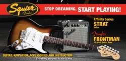 Affinity Series Strat with Frontman Amp